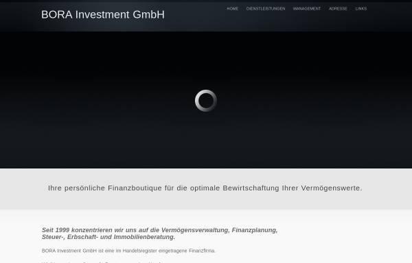 Vorschau von www.bora-invest.ch, BORA Investment GmbH