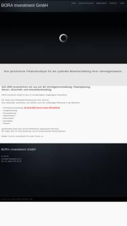 Vorschau der mobilen Webseite bora-invest.ch, BORA Investment GmbH