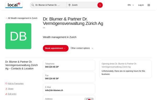 Vorschau von www.dr-blumer.ch, Dr. Blumer & Partner Consulting AG
