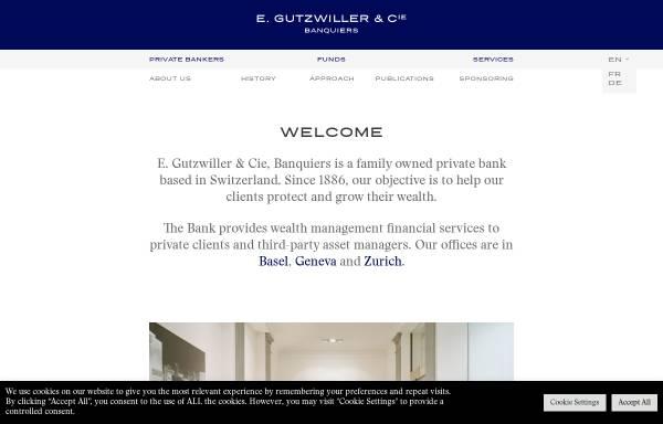 Vorschau von www.gutzwiller.ch, E. Gutzwiller & Cie, Banquiers