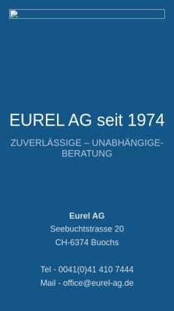 Vorschau der mobilen Webseite www.eurel-ag.ch, EUREL AG