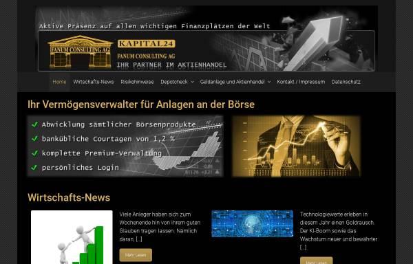 Vorschau von www.fanum.ch, Fanum Consulting AG