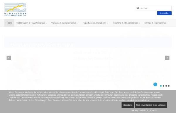 Vorschau von www.globinvest.com, Globinvest Asset Management AG