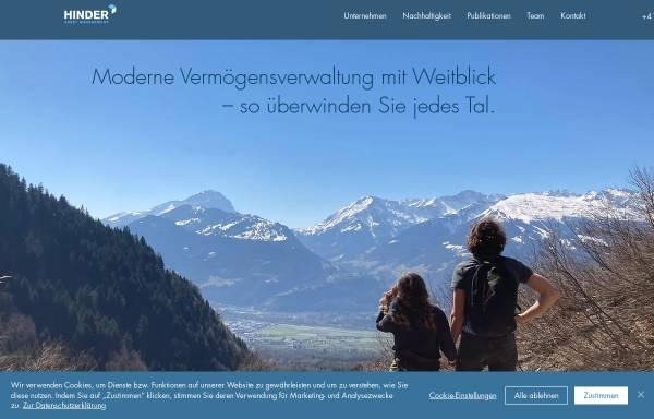 Vorschau von www.hinder-asset.ch, Hinder Asset Management AG