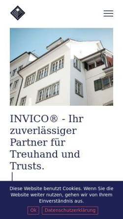 Vorschau der mobilen Webseite www.invico.ch, Invico Asset Management