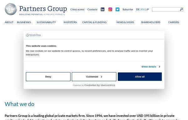 Vorschau von www.partnersgroup.com, Partners Group