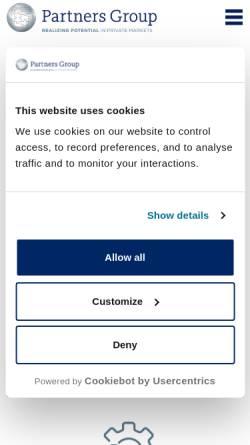 Vorschau der mobilen Webseite www.partnersgroup.com, Partners Group