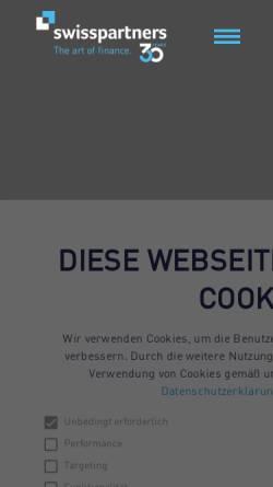 Vorschau der mobilen Webseite www.swisspartners.com, Swisspartners Investment Network Ltd.