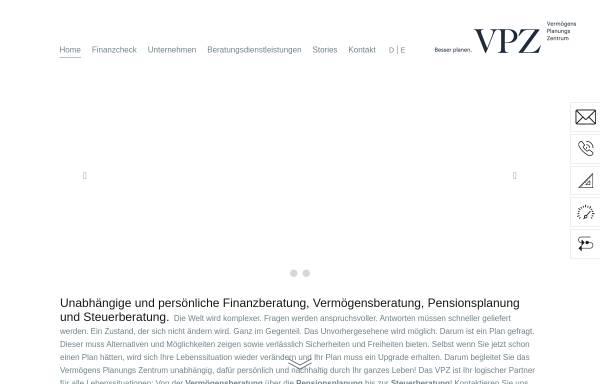 Vorschau von www.vpz.ch, VPZ AG Vermögensplanungs-Zentrum