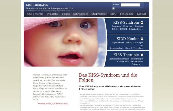 Vorschau von kiss-therapie.de, Kiss Therapie