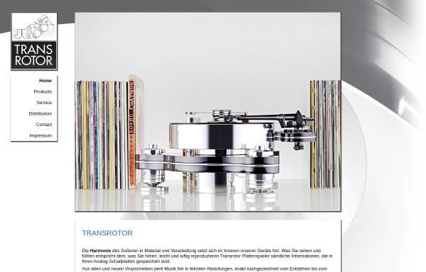 Vorschau von www.transrotor.de, Transrotor, Räke Hifi/Vertrieb GmbH