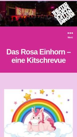 Vorschau der mobilen Webseite www.theatergruppe-rattenfaenger.ch, Muttenz, Theatergruppe Rattenfänger