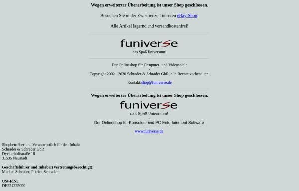 Vorschau von www.funiverse.de, Funiverse, Schrader & Schrader GbR