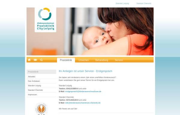 Vorschau von www.praxisklinik-city-leipzig.de, Kinderwunschzentrum Praxisklinik City Leipzig