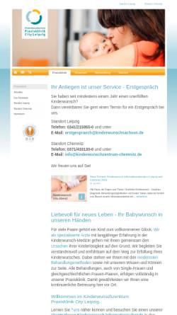 Vorschau der mobilen Webseite www.praxisklinik-city-leipzig.de, Kinderwunschzentrum Praxisklinik City Leipzig