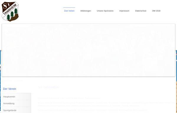 Vorschau von www.sv-tannheim.de, SV Tannheim