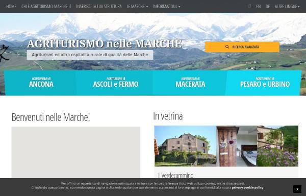 Vorschau von www.agriturismo-marche.it, Urlaub auf dem Bauernhof in den Marken