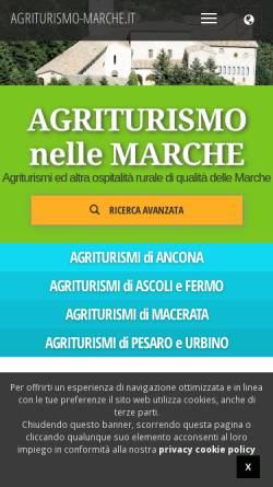 Vorschau der mobilen Webseite www.agriturismo-marche.it, Urlaub auf dem Bauernhof in den Marken