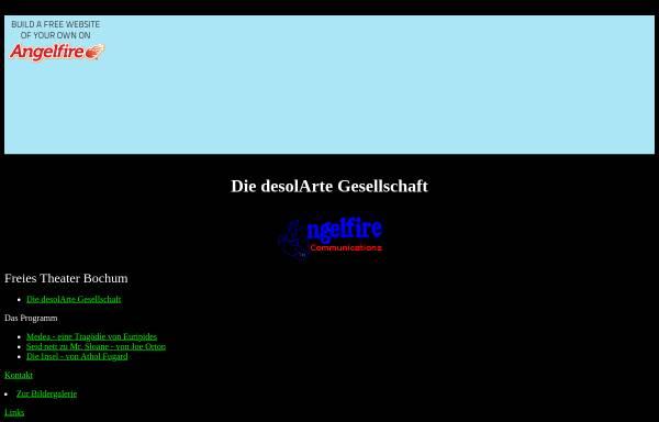 Vorschau von www.angelfire.com, desolArte Gesellschaft