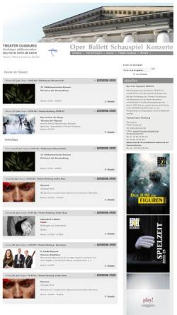 Vorschau der mobilen Webseite www.theater-duisburg.de, Duisburg, Stadttheater, Deutsche Oper am Rhein