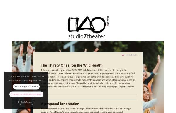 Vorschau von www.studio7theater.de, Köln, STUDIO 7 - International Theatre Ensemble