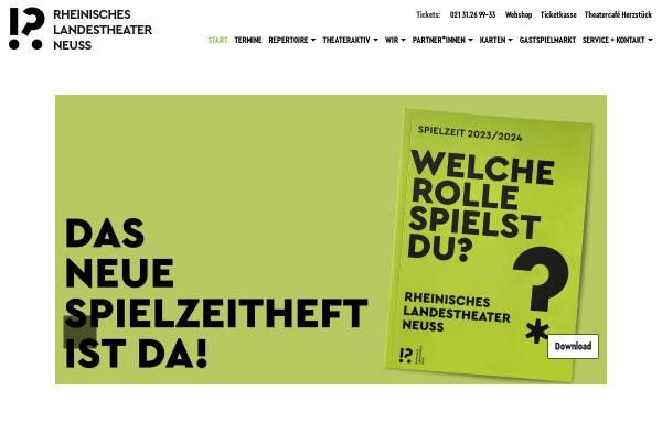 Vorschau von www.rlt-neuss.de, Neuss, Rheinisches Landestheater