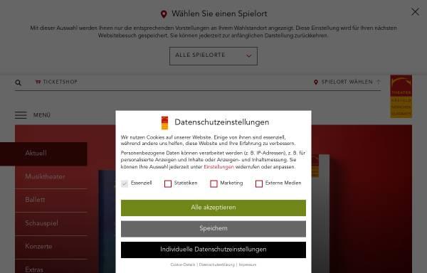 Vorschau von www.theater-krefeld-moenchengladbach.de, Vereinigten Städtischen Bühnen Krefeld und Mönchengladbach