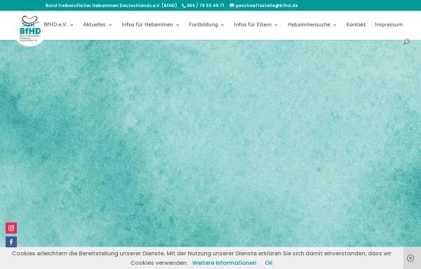 Vorschau von www.bfhd.de, Bund freiberuflicher Hebammen e.V. (BFHD)