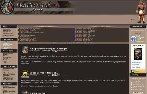 Vorschau von www.praetorianzone.de, Praetorian Zone