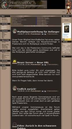 Vorschau der mobilen Webseite www.praetorianzone.de, Praetorian Zone