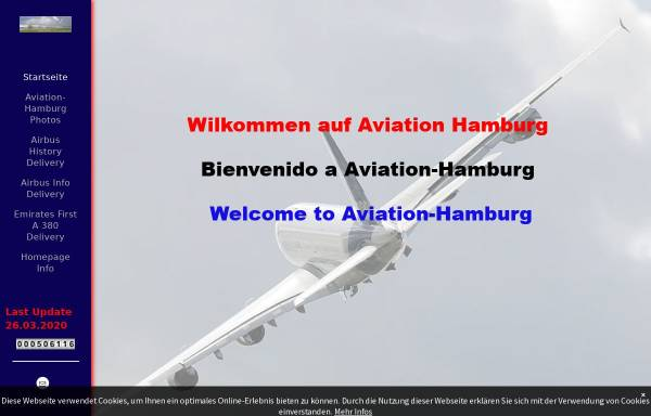 Vorschau von www.aviation-hamburg.com, Aviation-Hamburg