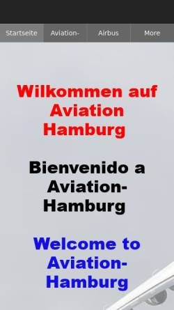 Vorschau der mobilen Webseite www.aviation-hamburg.com, Aviation-Hamburg