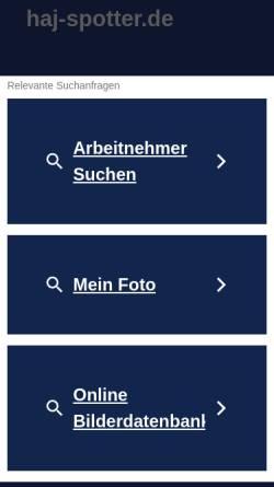 Vorschau der mobilen Webseite www.haj-spotter.de, HAJ-Spotter.de