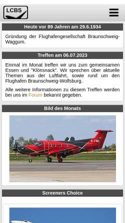 Vorschau der mobilen Webseite www.luftfahrtclubbraunschweig.de, Luftfahrt Club Braunschweig