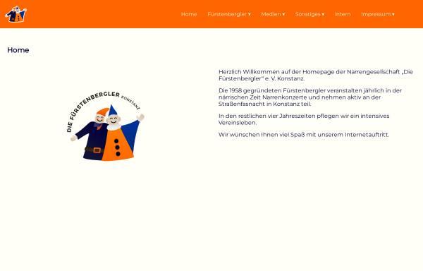 Vorschau von www.fuerstenbergler.de, Fürstenbergler Narrengesellschaft