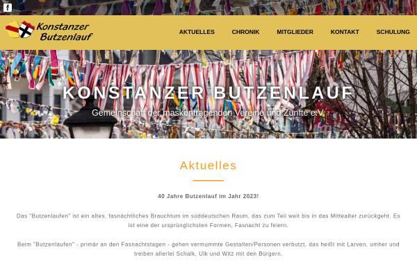 Vorschau von www.butzenlauf.de, Gemeinschaft der Maskentragenden Vereine und Zünfte e. V.
