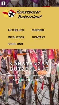 Vorschau der mobilen Webseite www.butzenlauf.de, Gemeinschaft der Maskentragenden Vereine und Zünfte e. V.