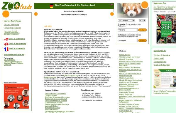 Vorschau von www.zoo-infos.de, Zoo-Infos.de