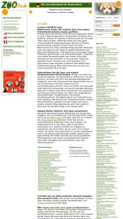 Vorschau der mobilen Webseite www.zoo-infos.de, Zoo-Infos.de