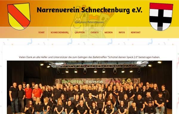Vorschau von www.schneckenburg.de, Narrenverein Schneckenburg e.V. Konstanz