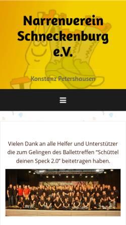 Vorschau der mobilen Webseite www.schneckenburg.de, Narrenverein Schneckenburg e.V. Konstanz