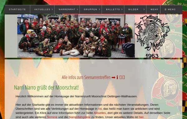 Vorschau von www.moorschrat.de, Narrenzunft Moorschrat Dettingen Wallhausen e.V.