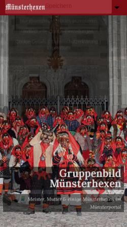 Vorschau der mobilen Webseite www.muensterhexen.de, Narrenzunft Münsterhexen Konstanz e.V.