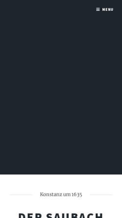 Vorschau der mobilen Webseite www.saubachgeister.de, Saubachgeister Konstanz e.V.