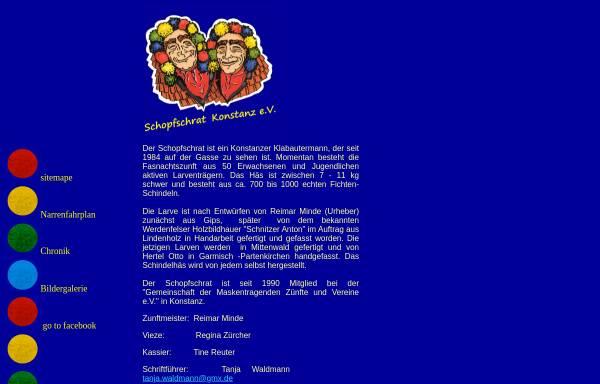 Vorschau von www.reimar-min.de, Schopfschrat Konstanz e.V.