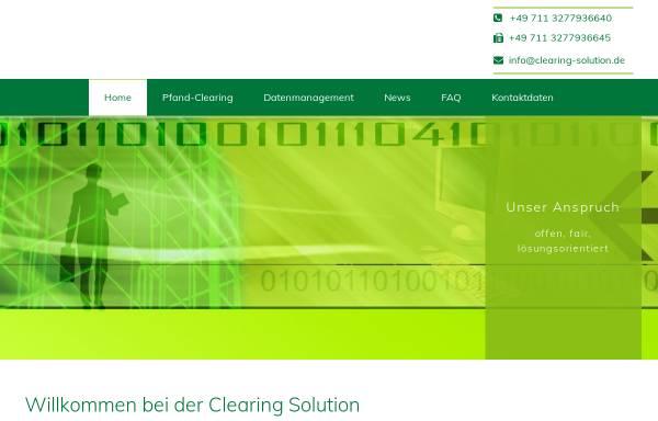 Vorschau von www.clearing-solution.de, Clearing Solution GmbH