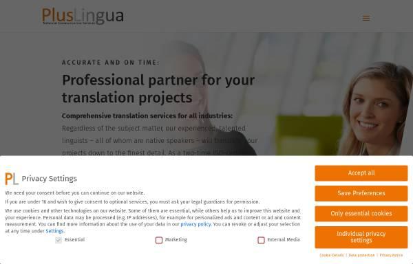Vorschau von www.pluslingua.com, PlusLingua