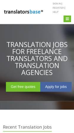 Vorschau der mobilen Webseite www.translatorsbase.com, Translatorsbase.com by VerbumSoft