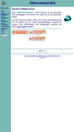 Vorschau der mobilen Webseite www.uebersetzernetz.de, Übersetzernetz