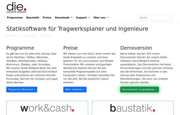 Vorschau von www.die.de, D.I.E. CAD und Statik GmbH
